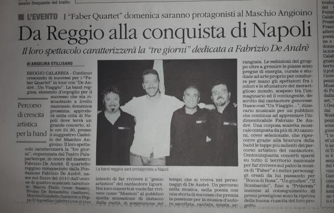 faber-quartet-cover band-de andrè-napoli