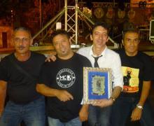 Il gruppo reggino 'Faber Quartet'. Da Sinistra, Alberto, Garreffa, Mimmo Condello, Marco Pinto, Bruno De Benedetto.